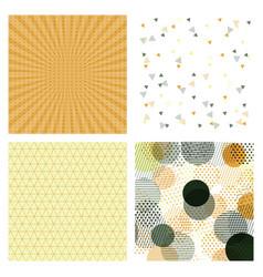 set of abstract stylish pattern stylish pattern vector image