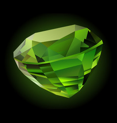 shiny green chrysolite vector image