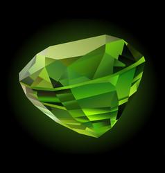 shiny green chrysolite vector image