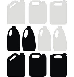 Silhouettes of canisters vector