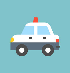 Simple police car transportation icon vector