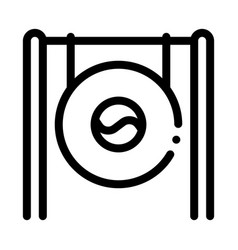 south korea gong icon outline vector image