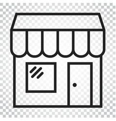 store icon shop build business concept simple vector image