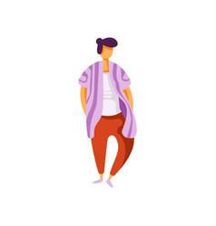 stylish fashionable young man wearing modern vector image