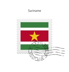 Suriname Flag Postage Stamp vector