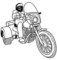 Tricycle And Driver vector image vector image