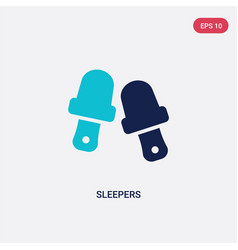 Two color sleepers icon from clothes concept vector