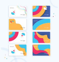 various business card or credit card design in vector image