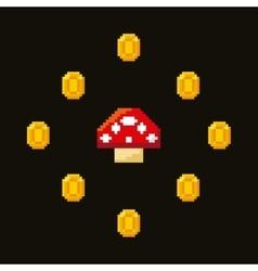 video game pixel design vector image