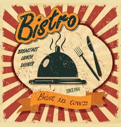 vintage bistro banner vector image