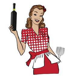 vintage hostess vector image