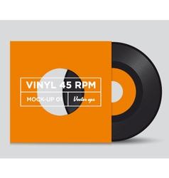 Vinyl 45 rpm mockup 01 vector