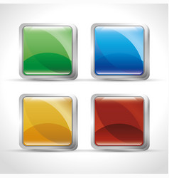 web buttons design vector image