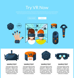 website page template with flat style vector image