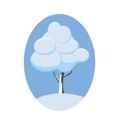 Winter tree icon cartoon style vector image