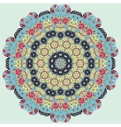 Bright coloured seamless mandala vector image