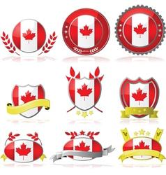 Canada badges vector image vector image