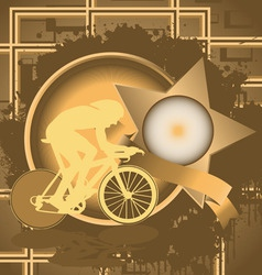cyclist vintage design vector image vector image