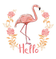 flamingo isolated on background pink flamingo vector image