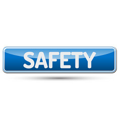 safety - abstract beautiful button with text vector image vector image