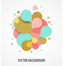 colorful abstract background poster with splash vector image vector image
