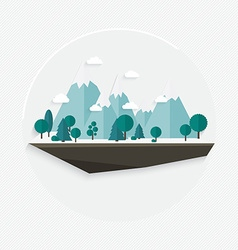Flat design nature landscape mountain vector image