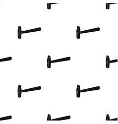 hammer icon in black style isolated on white vector image vector image