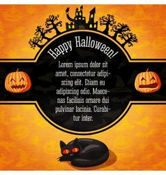 Happy halloween banner with greetings and sample vector image