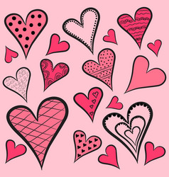 hearts-pattern vector image vector image