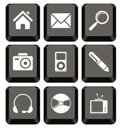 Keyboard icon set vector image vector image