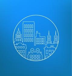 Linear urban landscape vector image