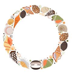 marine life wreath icon vector image