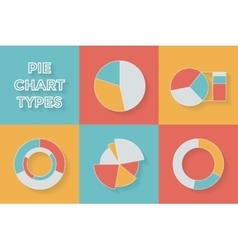 Pie chart types - Set of Infographic Elements vector image