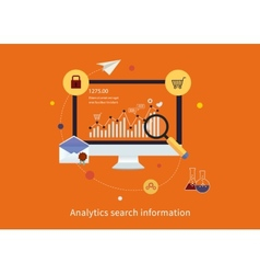Search information and website SEO vector image