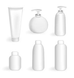 Set tube and jars vector image