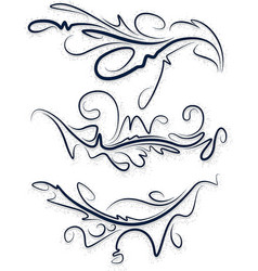 A collection of beautiful decorative items for vector