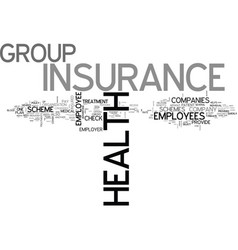 Benefits of group health insurance text word vector