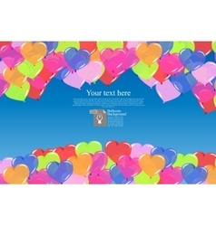 color balloons background vector image vector image