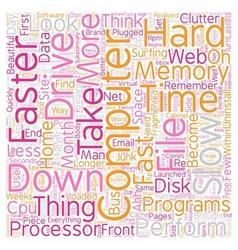 Computer No Longer Fast text background wordcloud vector image vector image