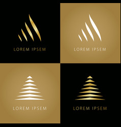 golden triangle symbols vector image