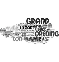 Grand word cloud concept vector