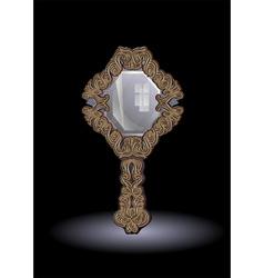 mirror on dark background vector image