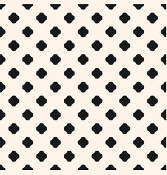 monochrome seamless pattern with rounded crosses vector image vector image