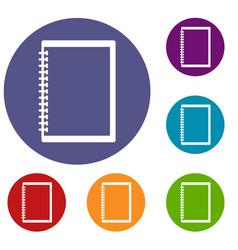 Sketchbook icons set vector