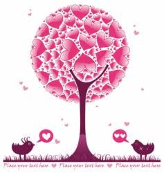 valentine decorative tree vector image vector image