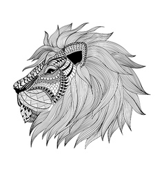 Zentangle stylized Leon face Hand Drawn doodle vector image