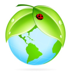Green Earth Icon vector image vector image