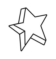 line cute bright star art design vector image