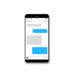 message text box mobile phone screen vector image