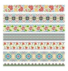 Ukrainian ethnic national border patterns for vector image